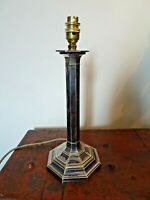 Antique 19th Century Electroplated Silver Columnar Table Lamp Hawksworth & Eyre