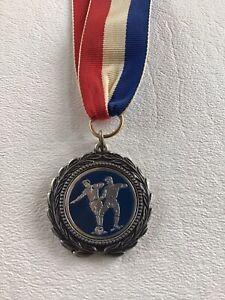 Vintage Soccer Medal Medallion on Ribbon - Lindavista 1982 Severna Park Maryland
