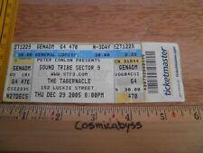 STS9 Sound Tribe Sector Nine 9 2005 der Tabernakel Konzert Ticket Original 29
