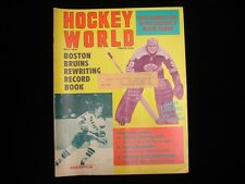 May 1971 Hockey World Magazine - Jean Ratelle and Gerry Cheevers Cover
