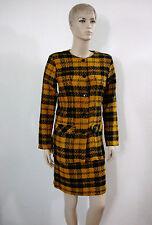 Womens Skirt Suit Tweed Unlined Long Sleeves Jacket Short Slim Skirt Size M- NEW