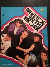 New listing Vintage 1989 New Kids On The Block Nkotb Souvenir 3 Ring Folder w/Photos 🎤 🎶