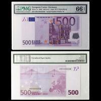 "[PMG] European Union/Germany 500 Euro P-7x 2002 R003 Prefix ""X"" Gem 66"