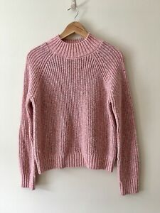 Fat Face Pink Chunky Knit Long Sleeve Jumper UK Size 8