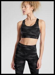 Athleta NWT Women's Ultimate Printed Bra D-DD Size Med Color Black Camo