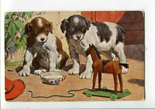 3001880 Puppies Jack Russell Terrier w/ Horse Toy Vintage Pc