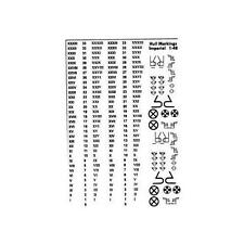 Custom Decals Hull Markings 1:48 Scale in White- Imperial -