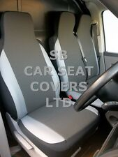 TO FIT A TOYOTA HIACE VAN SEAT COVERS SWB 154 FABRIC+LIGHT GREY TRIM 1S+1D
