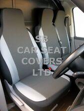 TO FIT A RENAULT TRAFIC VAN SEAT COVERS VAN 2005 154 FABRIC+LIGHT GREY TRIM S+D
