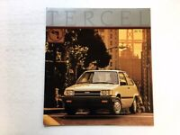 1986 Toyota Tercel and 4wd Wagon Original 16-page Car Sales Brochure Catalog