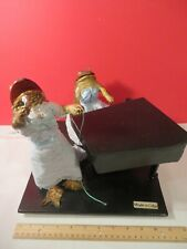 Vintage 2 Taxidermy Frogs, 1 playing the piano & 1 Singing in Dresses