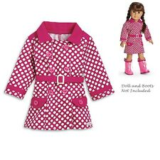 "American Girl MY AG RAINY DAY COAT for 18"" Dolls Jacket Rain Outfit Retired NEW"