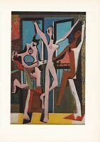 """1955 Vintage """"THREE DANCERS"""" by PABLO PICASSO Color Plate offset Lithograph"""