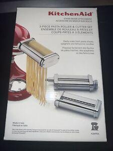 KitchenAid 3-Piece Pasta Roller & Cutter Stand Mixer Attachments Set KSMPRA