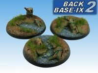 60mm Resin Scenic Bases (3) Round Forest Warhammer