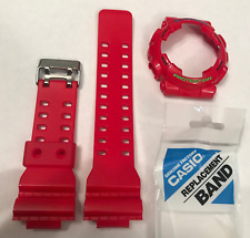 CASIO  G-Shock Band GD-100HC-4 GD-100HC Strap  & Glossy Red Bezel Cover GD100