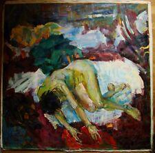 Russian Ukrainian Oil Painting Fauvism female nude figure girl impressionism