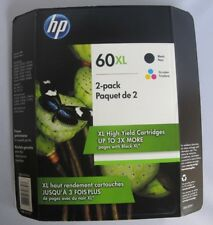HP 60XL Black & Tri-color High Yield Genuine Ink Cartridge 2 pack D8J61BN