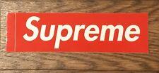 AUTHENTIC - Supreme Box Logo Sticker - (1) 100% Real Supreme Team NYC Mint Cond.