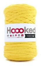 Hoooked RibbonXL 120M Cotton Yarn Knitting Crochet - Lemon Yellow