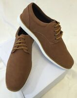 MENS ROWMAN SHOES Loafer LACE UP Italian Casual Slip-On SUEDE CAMEL BROWN NEW