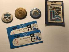New ListingLake Placid Ny 1980 Olympics Souvenirs Hockey Ticket Stubs-Pinbacks-Unused Patch