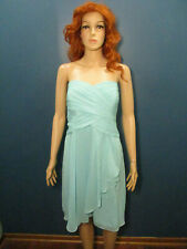 size 18 light blue zip up formal BRIDESMAID dress by DAVID'S BRIDAL