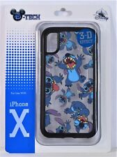 Disney Parks Exclusive Stitch 3-D Effect Apple Iphone 10 X Cellphone Case NEW