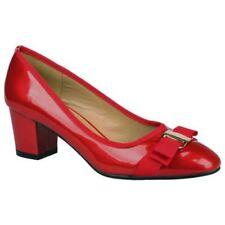 Zapatos de tacón de mujer de color principal rojo sintético Talla 39