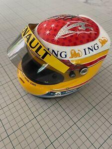 Formula 1 Mini Helmet ING Renault signed by Fernando Alonso