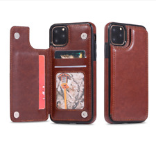 Card Slot Flip Wallet Stand Phone Case Cover fit for iPhone 11 12 & Samsung S21