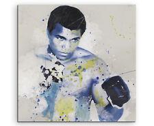 Muhammad Ali Splash 60x60cm Kunstbild als Aquarell auf Leinwand