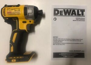 "NEW DEWALT DCF787 20V 20 Volt MAX Li-Ion 1/4"" Hex Brushless Impact Drill Driver"