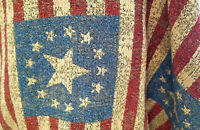 "ulphostery Fabric  vintage american flag design, 50"" wide, sold by yard"