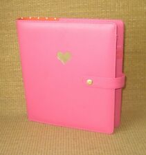 Classic GOLD HEART | PINK Sim. Leather THE HAPPY PLANNER Cover Polka Dots NICE
