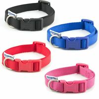 Dog Puppy Pet Collar Ancol Nylon Adjustable Strong Strap Fabric All Sizes