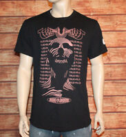 True Religion Men's Audio Pleasure Curved Hem Short Sleeve T- Shirt $79 New!