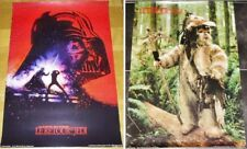 Star Wars Vintage Lot of 2 French Posters ADVANCE 1983 The Return of the Jedi