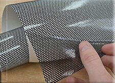 2 X A4 PERFORATED FLY MESH HEADLIGHT FILM EYE VISION TINTING FILM JAP EURO