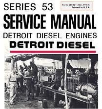 Detroit Diesel Engines 53 Series Shop Service Manual 2-53 3-53 4-53 6V-53 8V-53N