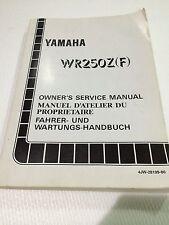 Genuine Yamaha WR250Z 93 Owners Service Manual 4JW-28199-80