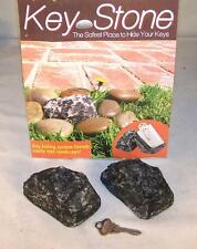 2 HIDE A KEY STONE ROCK stash keys personal securtiy hidden holder fake rocks