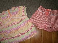 GYMBOREE 2 PC TOP SIZE 6 7 YEARS OUTFIT SHIRT SHORTS BLOUSE FRESHLY PICKED EUC