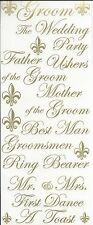 GROOM Phrases Wedding Scrapbook Sticker Phrases