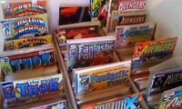 1 box lot 50 OLD COMICS MARVEL DC fantastic four hulk xmen flash batman superman