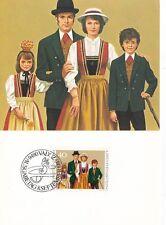 Liechtenstein 1980 Traditional Costumes Maxim Card Set Mint in Original Envelope