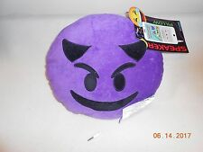 New emoji purple plush speaker pillow ennotek works w/ phones, games mp3 players
