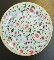 "Charter Club Grand Buffet Plate Floral Chintz 9 "" Salad Accent Scroll Platinum"
