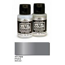 Vallejo Paints Metal Color VLJ-77724 Silver Metal Color 32ml Bottle