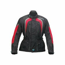 SPADA COAST TEXTILES MOTORCYCLE JACKET BLACK/Red SIZE LARGE REF35